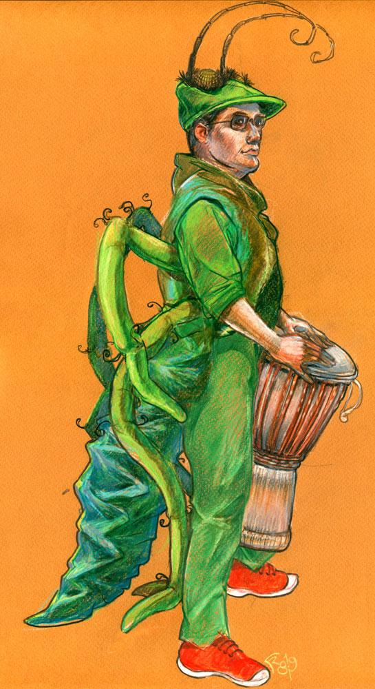 Percussionniste-Sauterelle